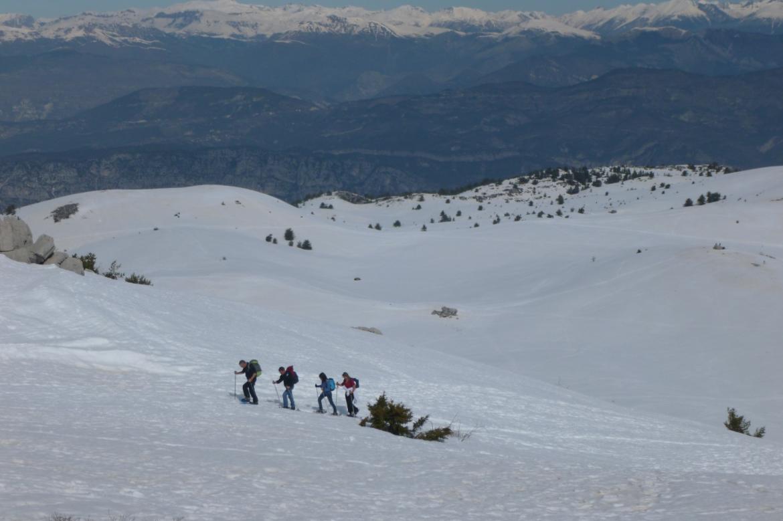 Des randonnées sur neige